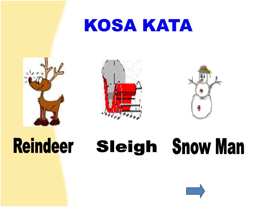 KOSA KATA Reindeer Snow Man Sleigh