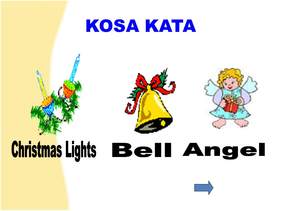 KOSA KATA Christmas Lights Bell Angel