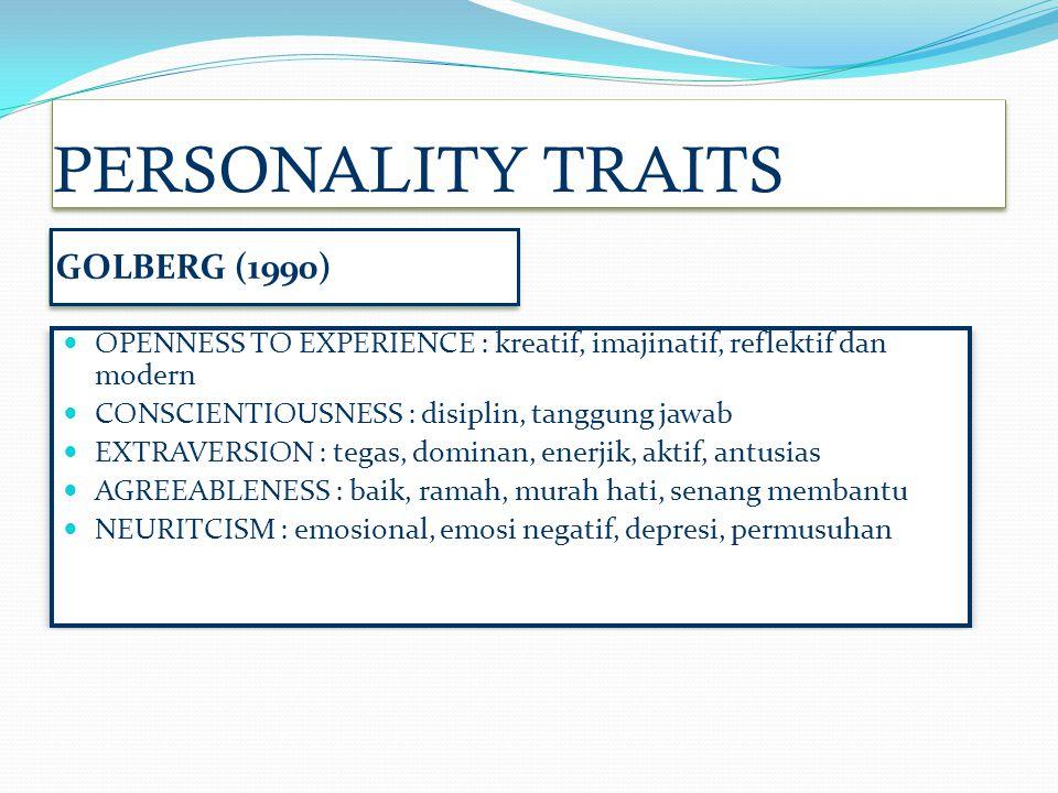 PERSONALITY TRAITS GOLBERG (1990)