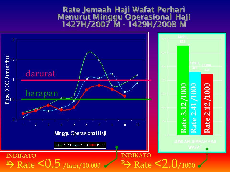 darurat harapan  Rate <0.5 /hari/10.000  Rate <2.0/1000