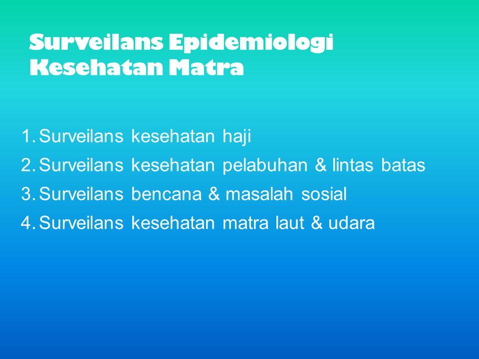 Surveilans Epidemiologi Kesehatan Matra