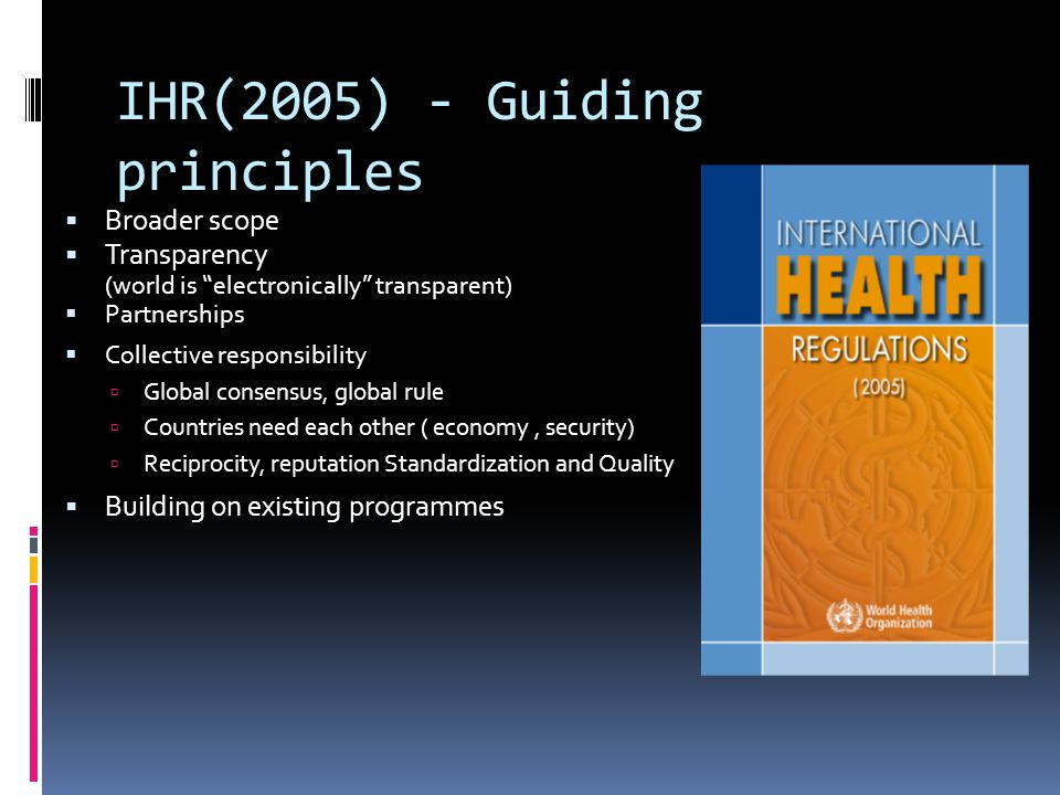 IHR(2005) - Guiding principles