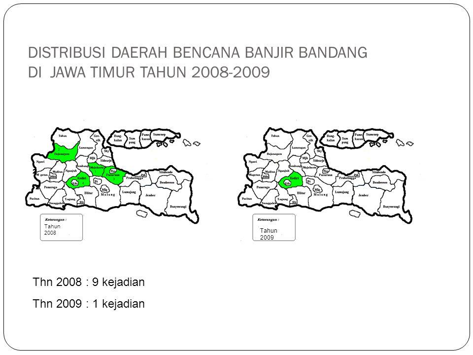 DISTRIBUSI DAERAH BENCANA BANJIR BANDANG DI JAWA TIMUR TAHUN 2008-2009