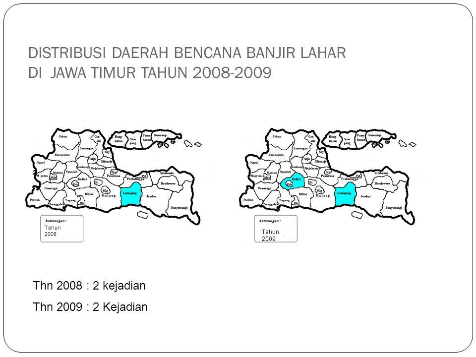 DISTRIBUSI DAERAH BENCANA BANJIR LAHAR DI JAWA TIMUR TAHUN 2008-2009
