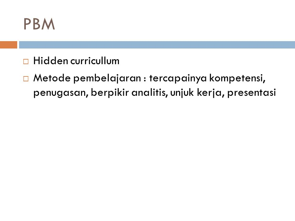 PBM Hidden curricullum