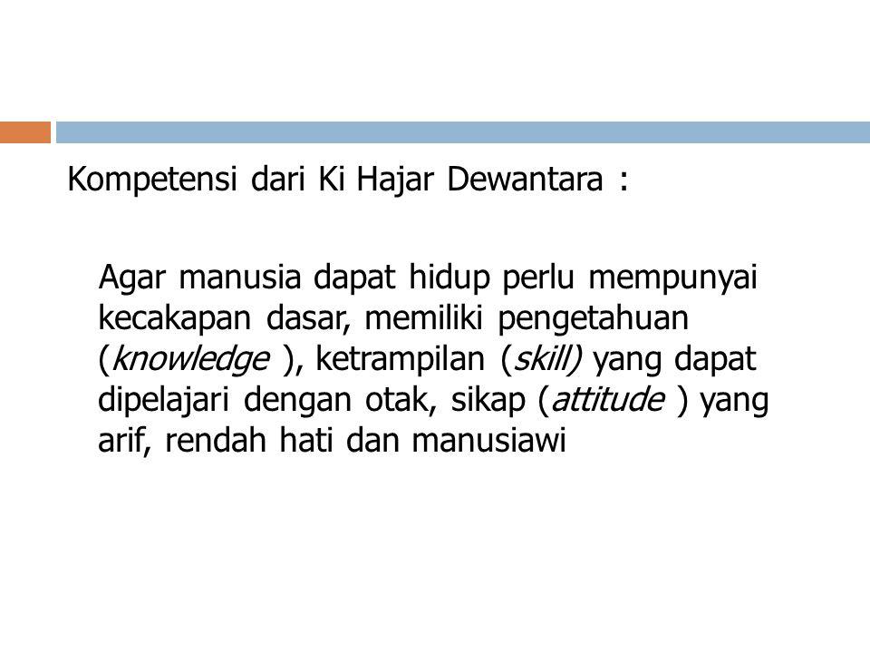 Kompetensi dari Ki Hajar Dewantara :