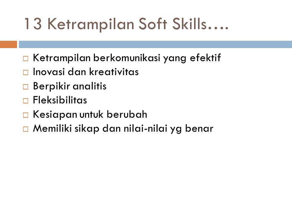13 Ketrampilan Soft Skills….