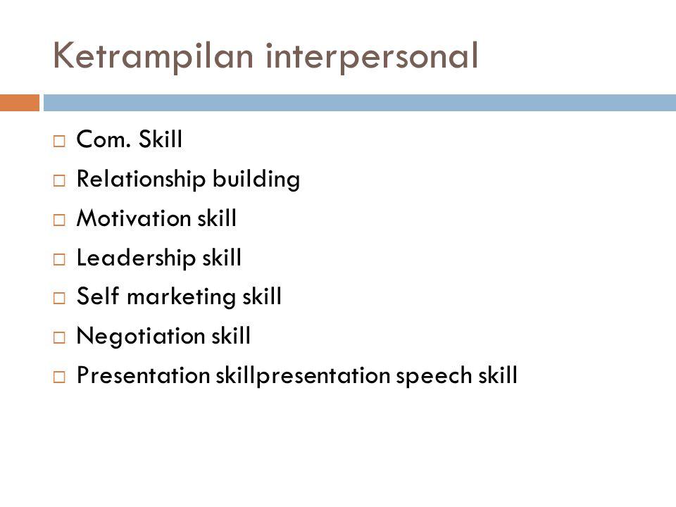 Ketrampilan interpersonal