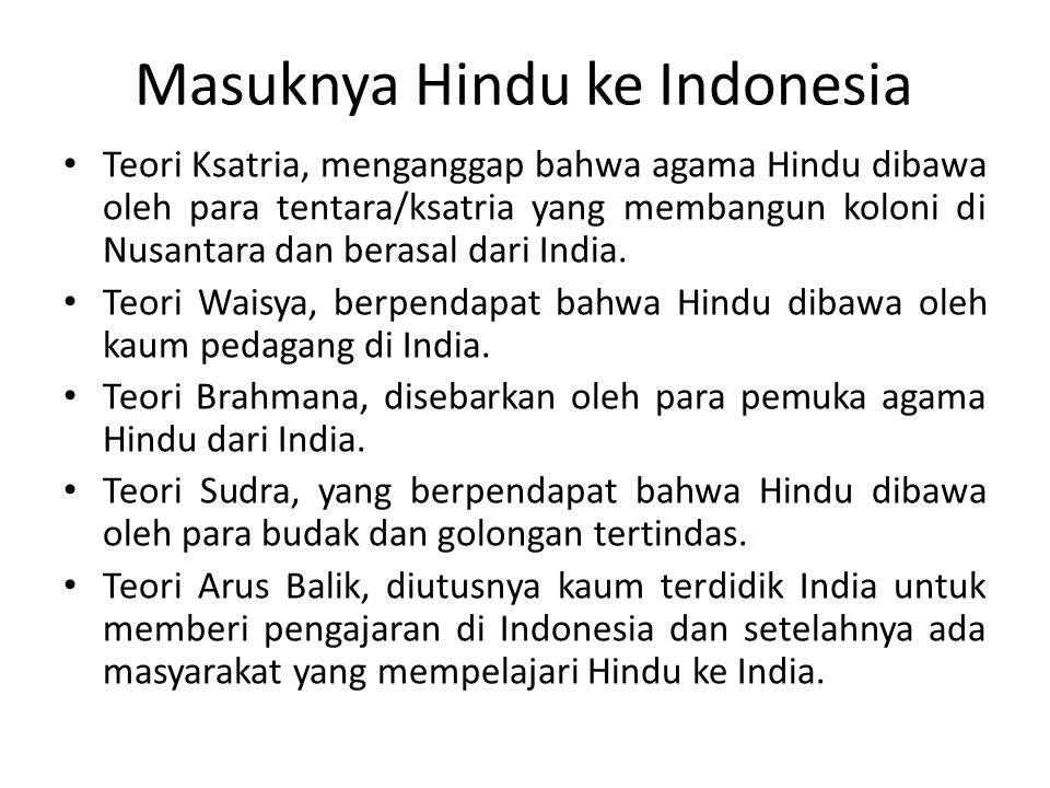 Masuknya Hindu ke Indonesia