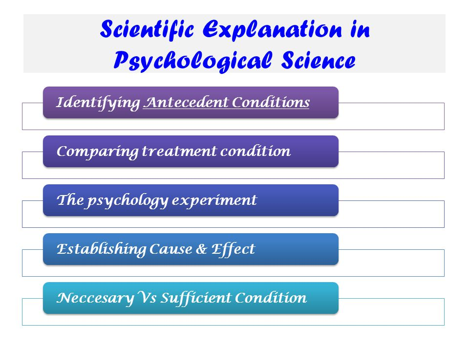 Scientific Explanation in Psychological Science