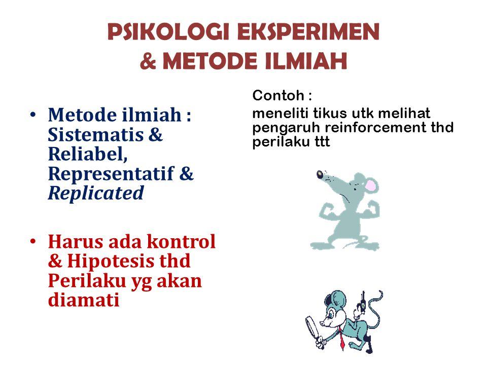 PSIKOLOGI EKSPERIMEN & METODE ILMIAH
