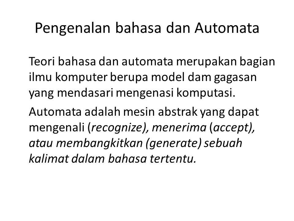 Pengenalan bahasa dan Automata