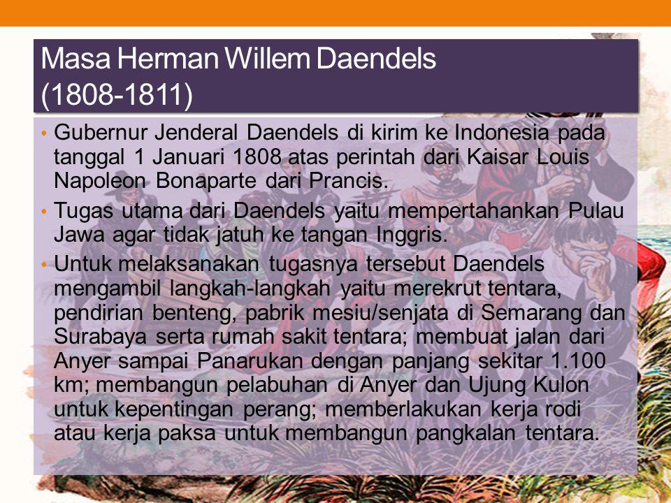 Masa Herman Willem Daendels (1808-1811)