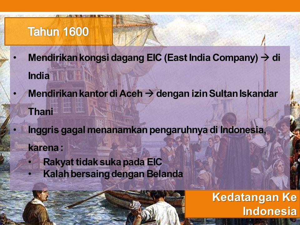 Kedatangan Ke Indonesia