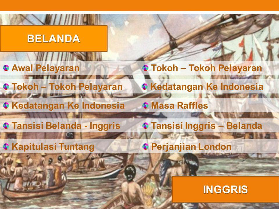 BELANDA INGGRIS Awal Pelayaran Tokoh – Tokoh Pelayaran