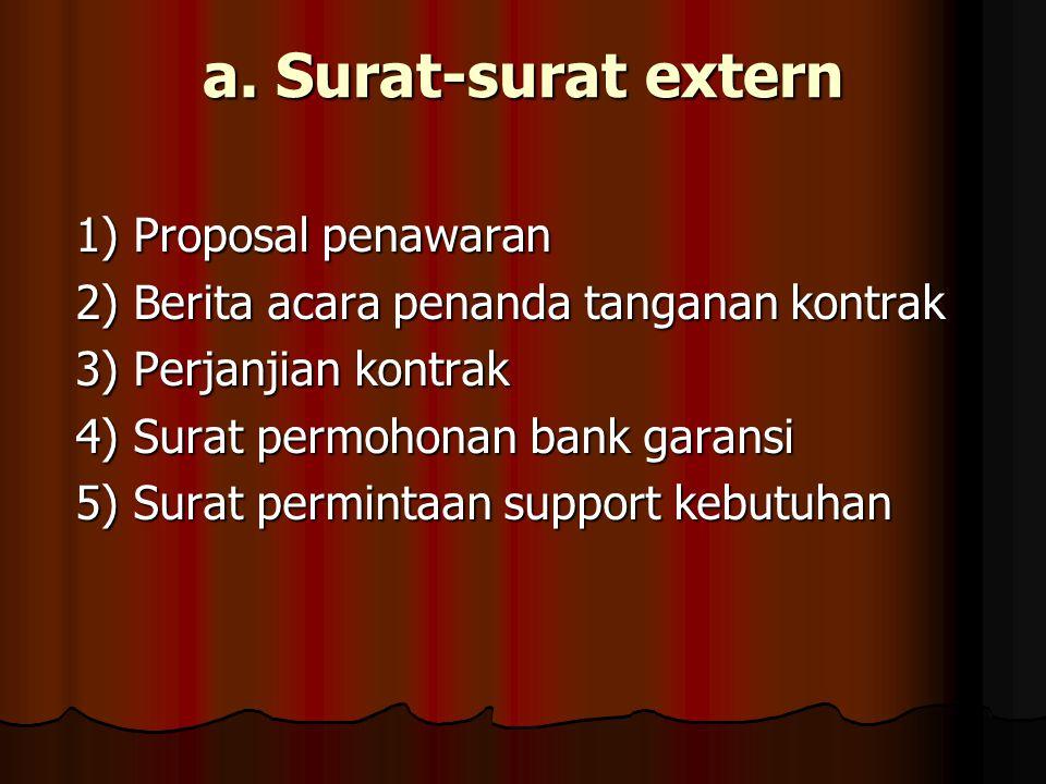 a. Surat-surat extern 1) Proposal penawaran