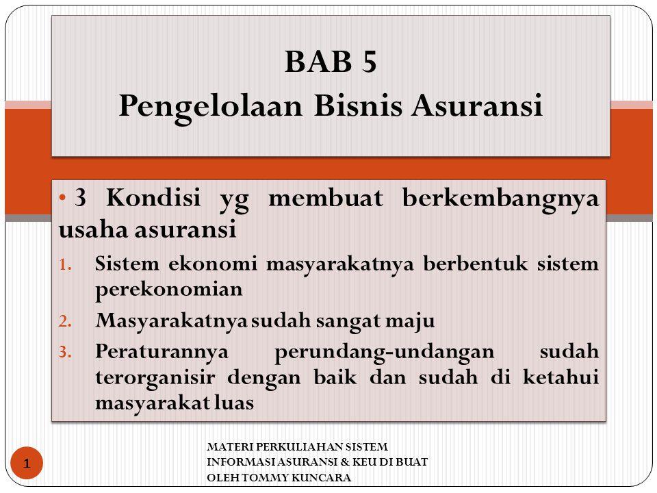 BAB 5 Pengelolaan Bisnis Asuransi