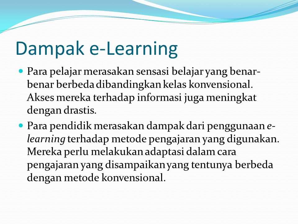 Dampak e-Learning