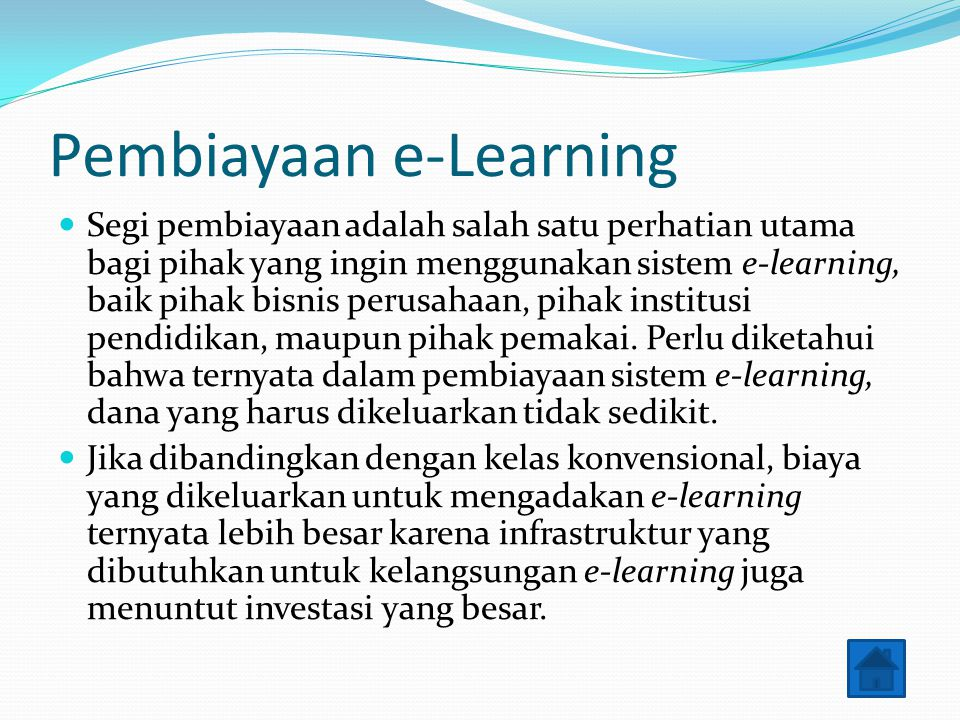 Pembiayaan e-Learning