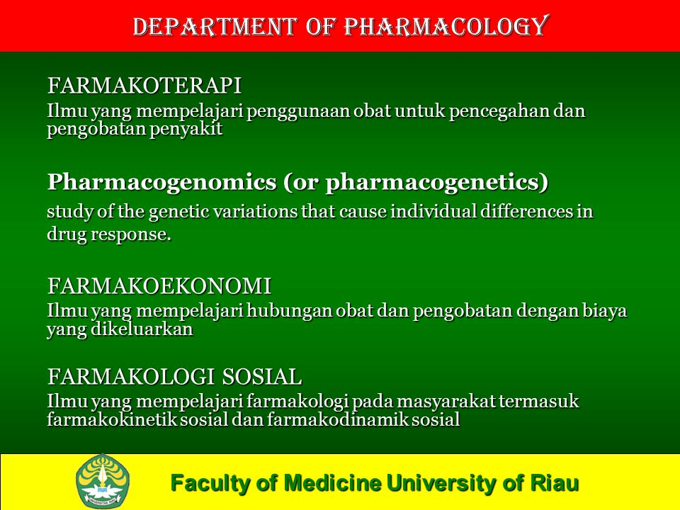 Pharmacogenomics (or pharmacogenetics)