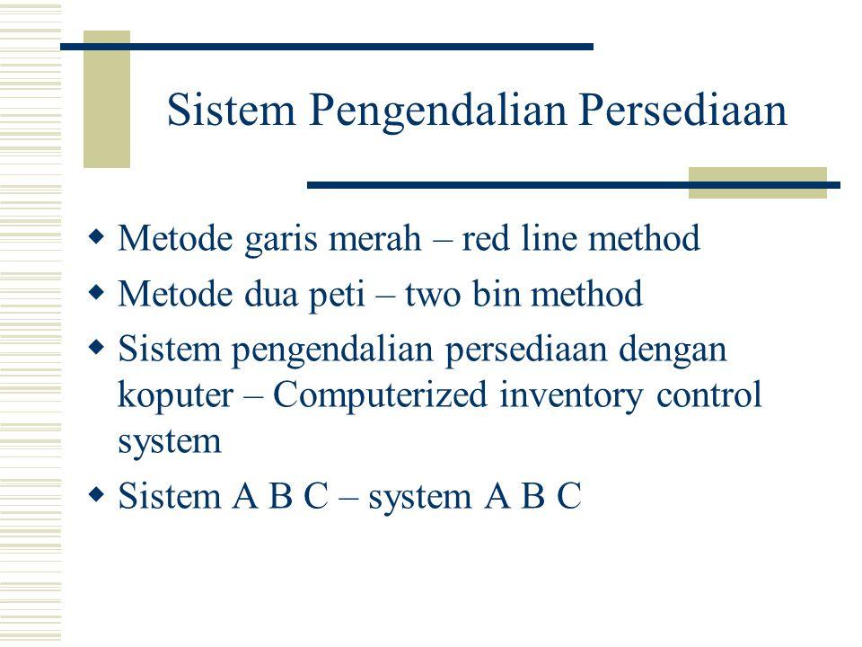Sistem Pengendalian Persediaan