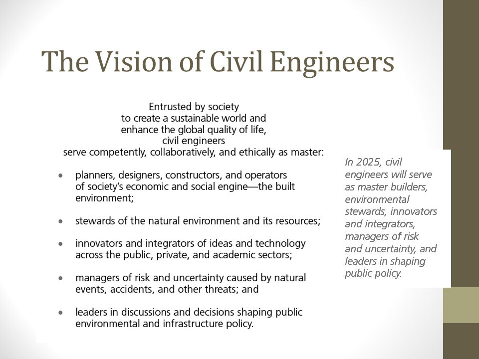 The Vision of Civil Engineers