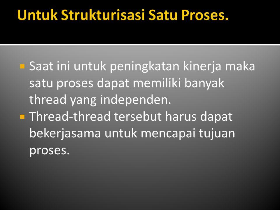 Untuk Strukturisasi Satu Proses.