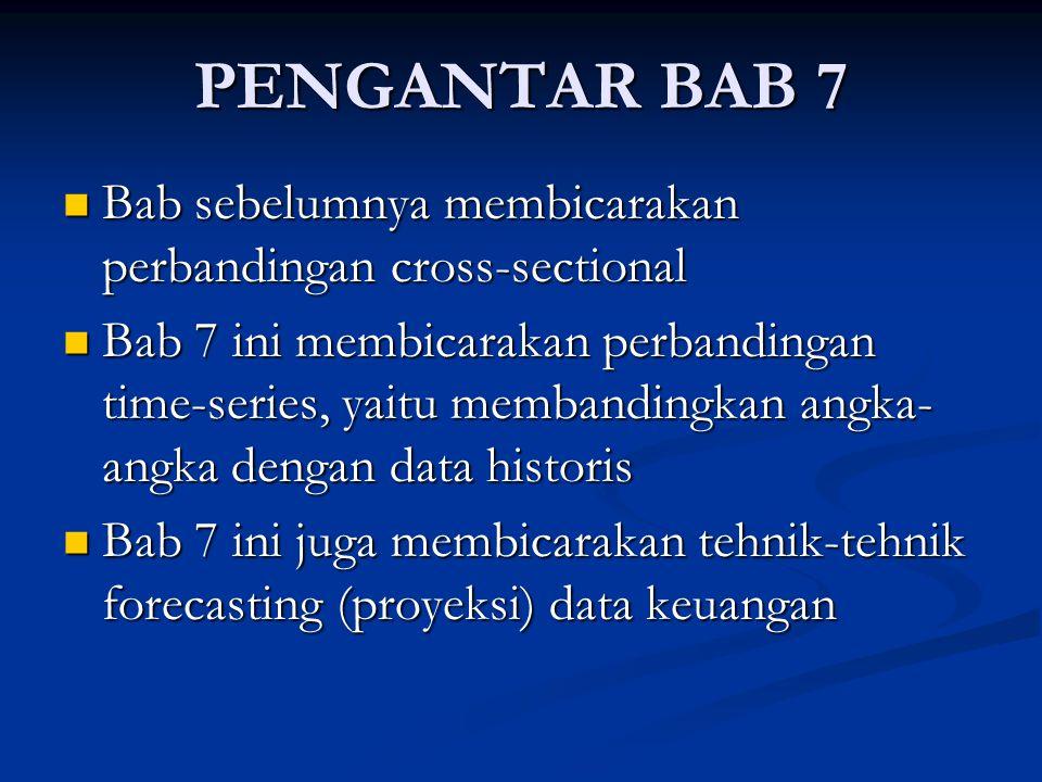 PENGANTAR BAB 7 Bab sebelumnya membicarakan perbandingan cross-sectional.