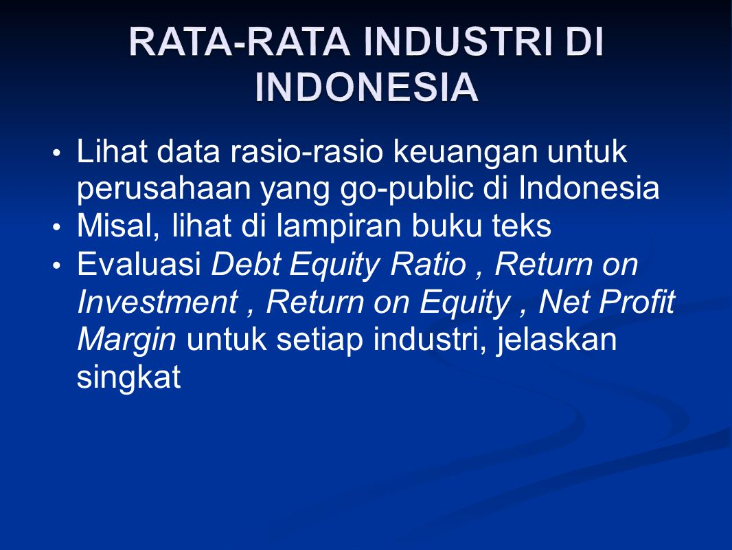 RATA-RATA INDUSTRI DI INDONESIA