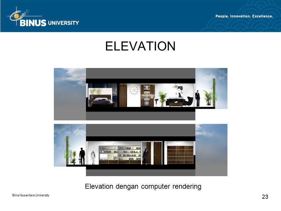 ELEVATION Elevation dengan computer rendering