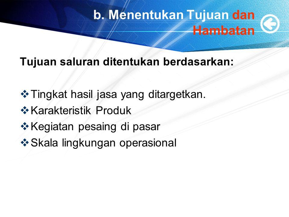 b. Menentukan Tujuan dan Hambatan