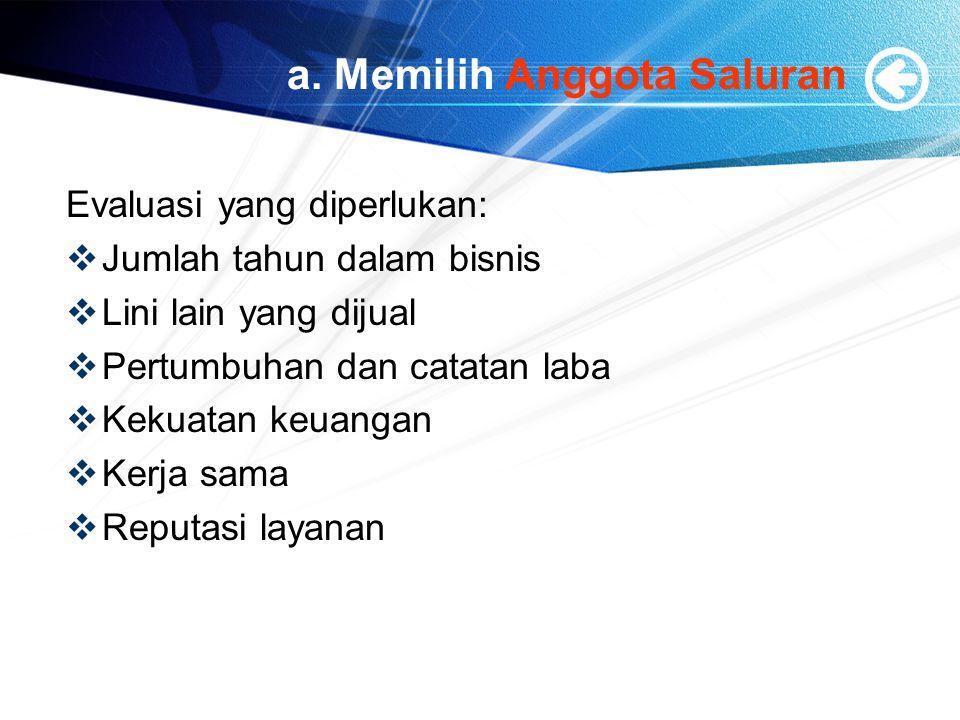 a. Memilih Anggota Saluran