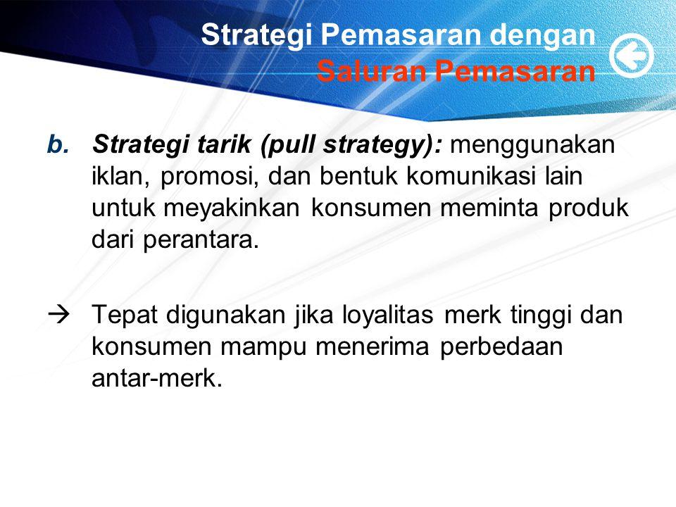 Strategi Pemasaran dengan Saluran Pemasaran