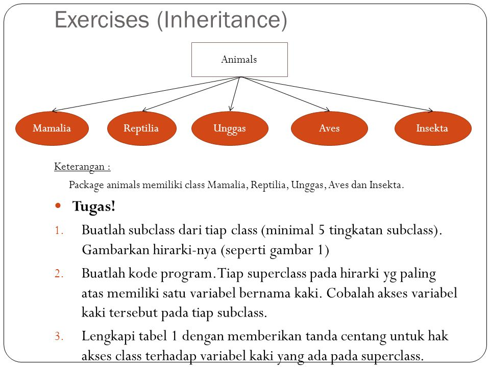 Exercises (Inheritance)
