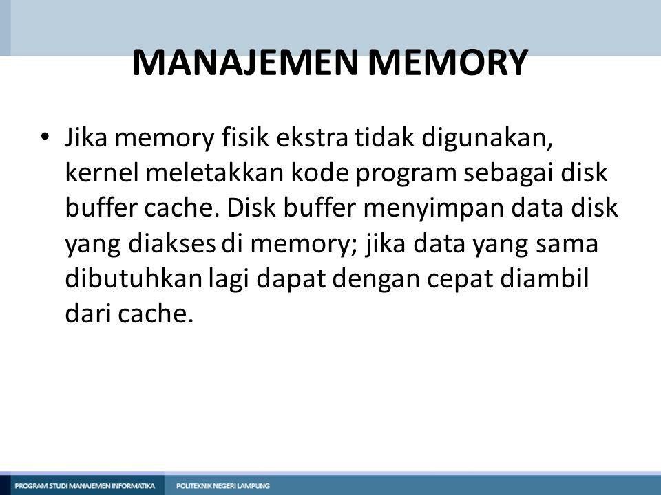 MANAJEMEN MEMORY