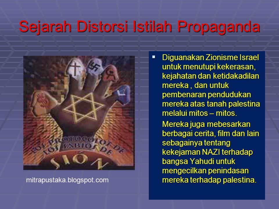 Sejarah Distorsi Istilah Propaganda