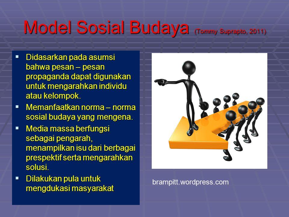 Model Sosial Budaya (Tommy Suprapto, 2011)