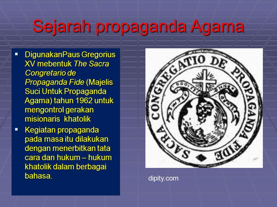 Sejarah propaganda Agama