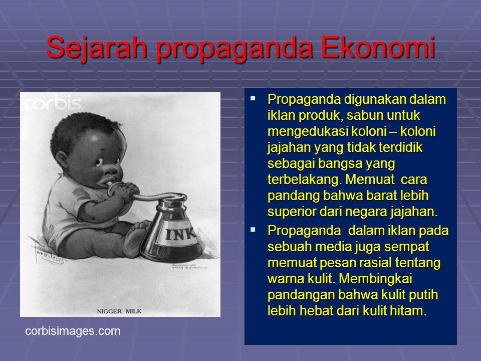 Sejarah propaganda Ekonomi