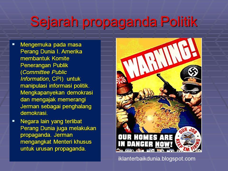 Sejarah propaganda Politik
