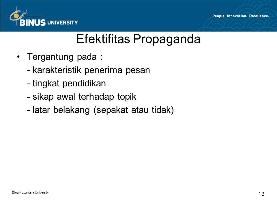 Efektifitas Propaganda
