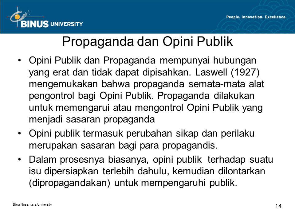 Propaganda dan Opini Publik