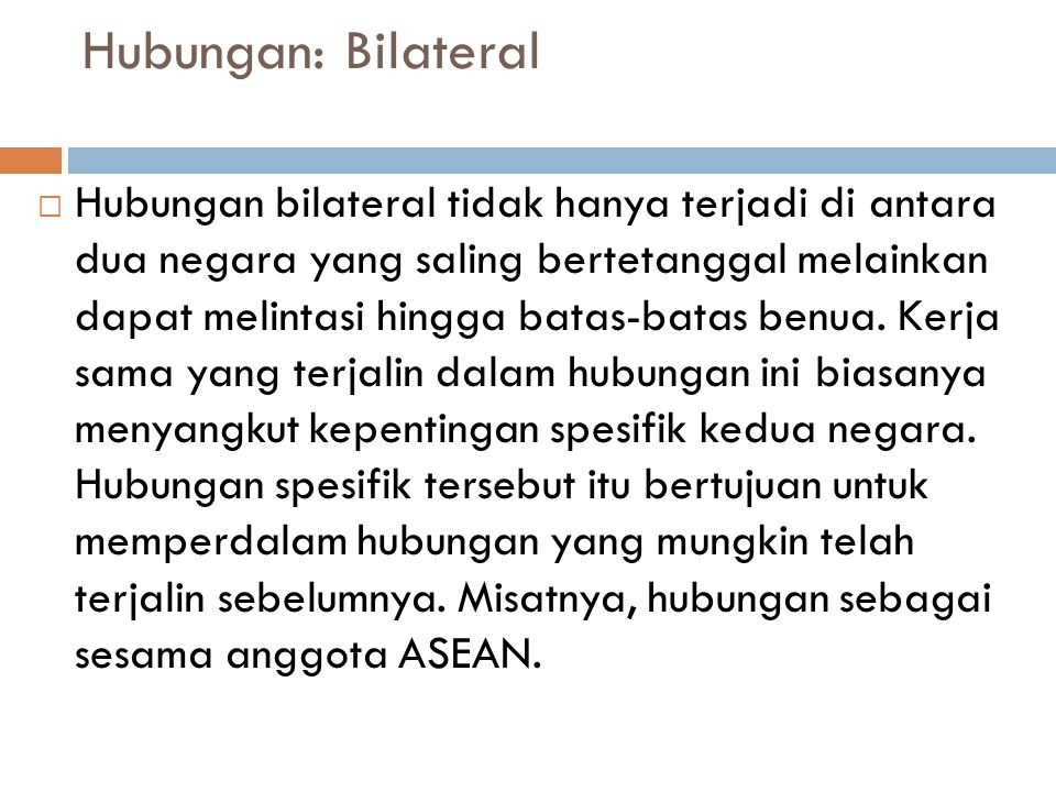 Hubungan: Bilateral