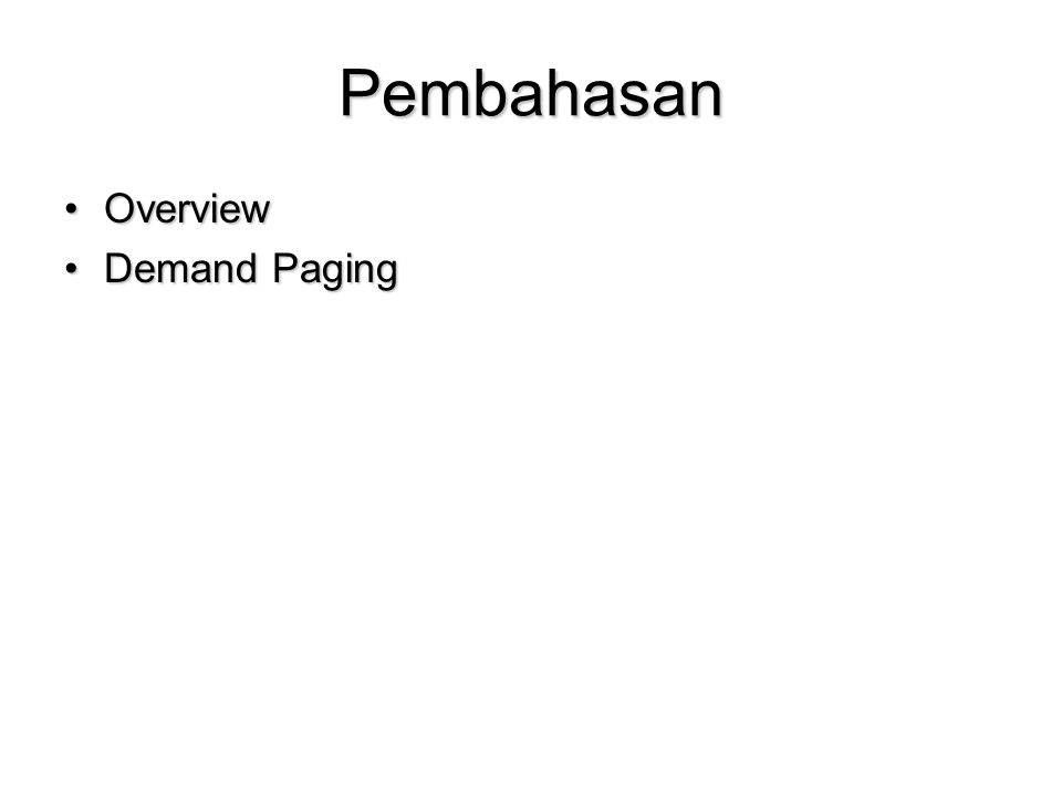 Pembahasan Overview Demand Paging