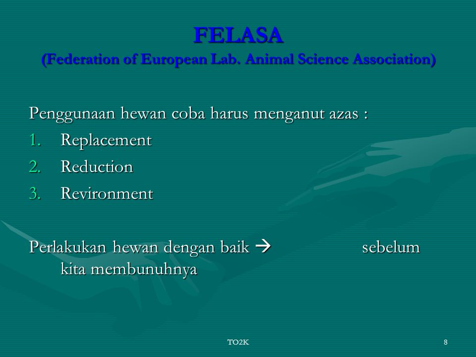 FELASA (Federation of European Lab. Animal Science Association)