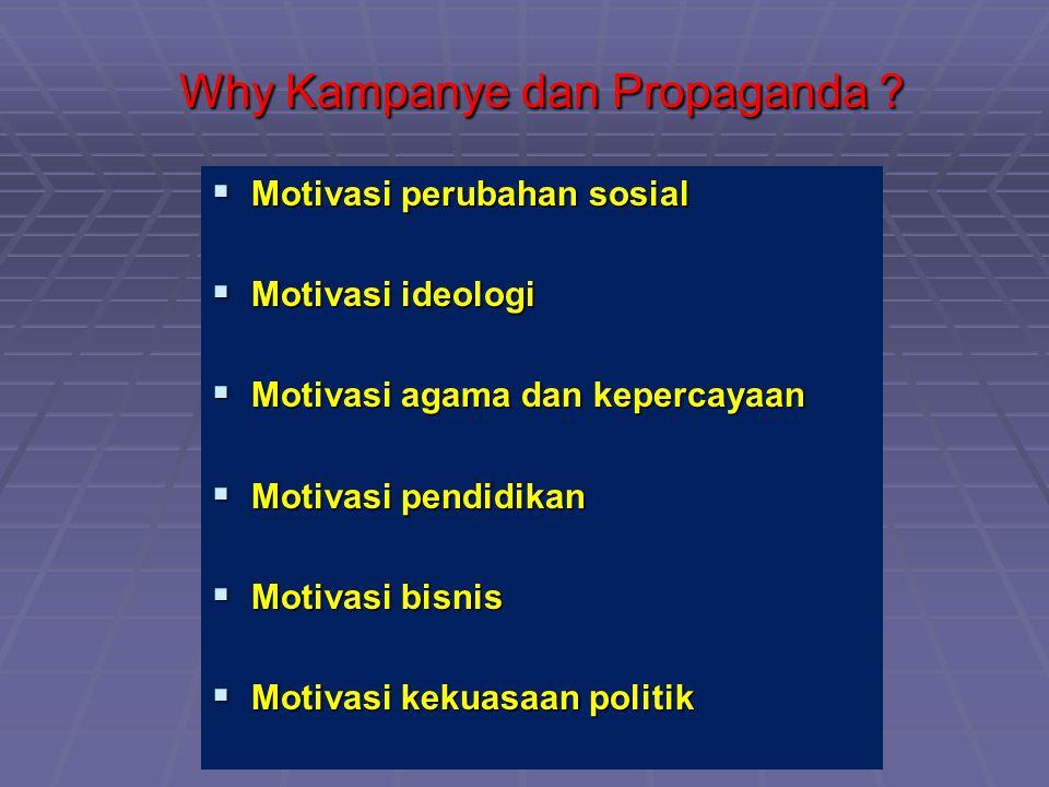 Why Kampanye dan Propaganda