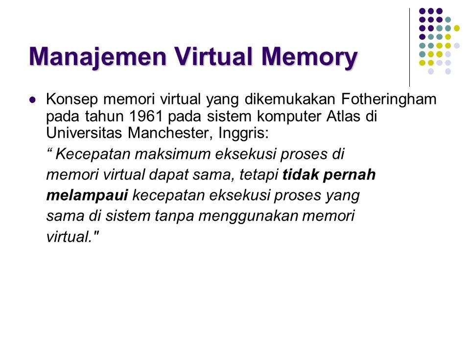 Manajemen Virtual Memory