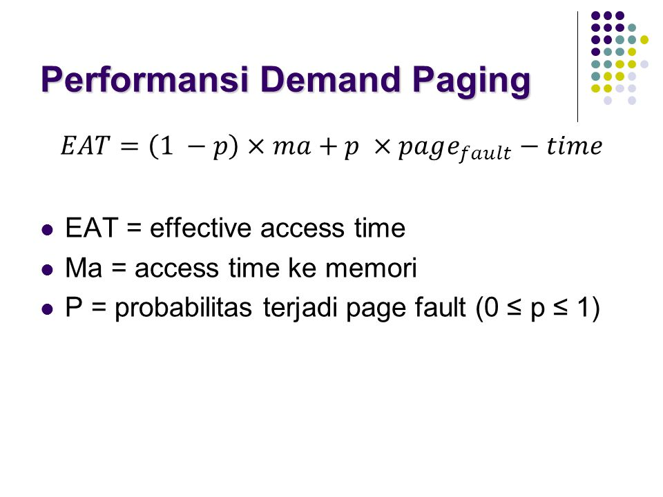 Performansi Demand Paging