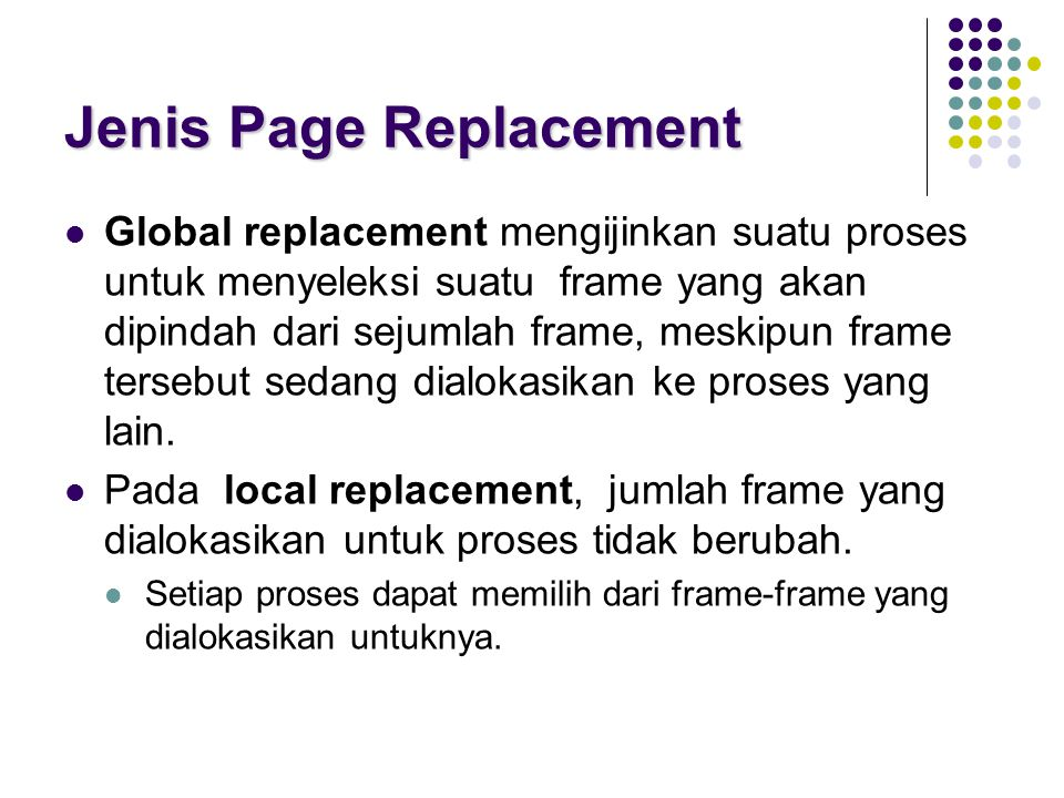 Jenis Page Replacement