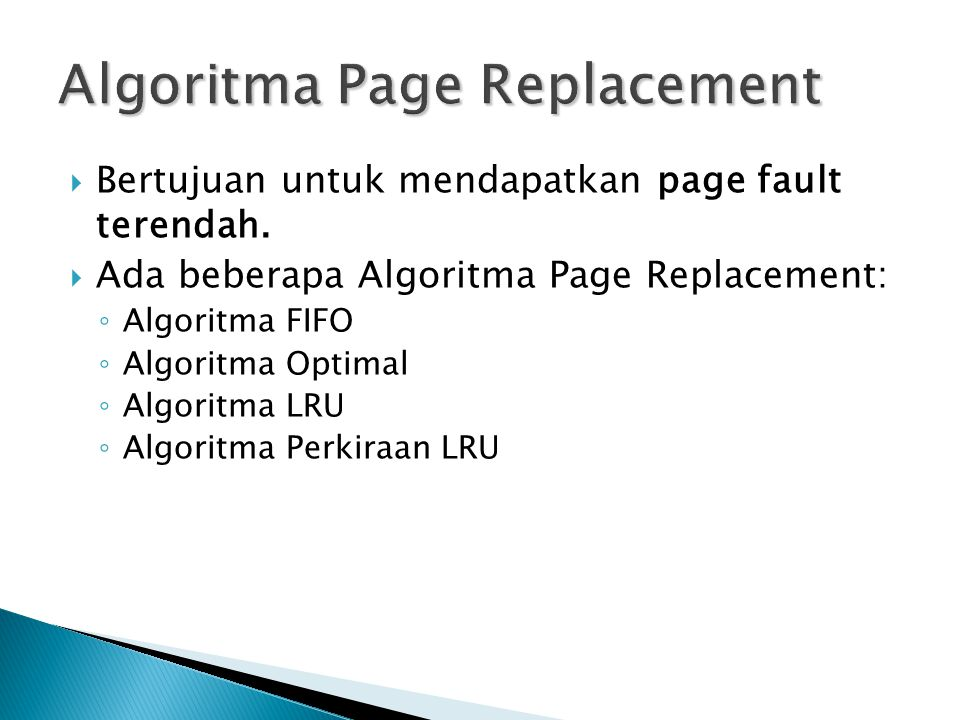 Algoritma Page Replacement